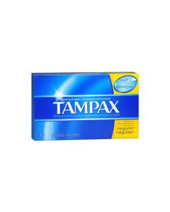 Tampax Regular Unscented Tampons - 10 Count 丹碧丝卫生棉条 (普通流量10只)