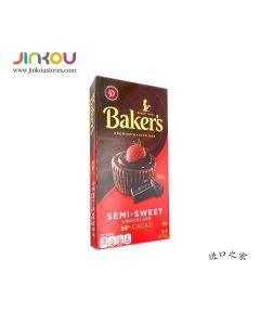 Baker's SEMI-SWEET Chocolate Premium Baking Bar 4 OZ (113g) 面包师牌烘培半甜巧克力块