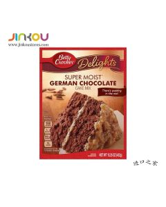 Betty Crocker Delights Super Moist German Chocolate Cake Mix 15.25 OZ (432g) 贝蒂牌蛋糕粉 (德国巧克力味)