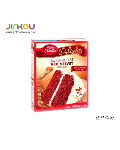 Betty Crocker Delights Super Moist Red Velvet Cake Mix 15.25 OZ (432g) 贝蒂牌蛋糕粉 (红丝绒)
