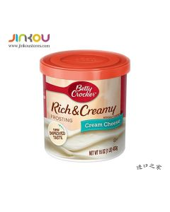 Betty Crocker Rich & Creamy Frosting Cream Cheese (453g) 贝蒂妙厨奶油芝士蛋糕涂层(烘培用)