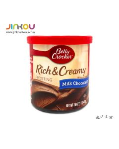 Betty Crocker Rich & Creamy Frosting Milk Chocolate (453g) 贝蒂牛奶巧克力味蛋糕糖霜 (烘培用)
