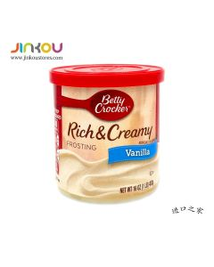 Betty Crocker Rich & Creamy Frosting Vanilla (453g)貝蒂妙廚香草味蛋糕塗層(烘培用)