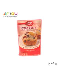 Betty Crocker Triple Berry Muffin Mix 6.5 OZ (184g)贝蒂牌松饼粉(酱果味)