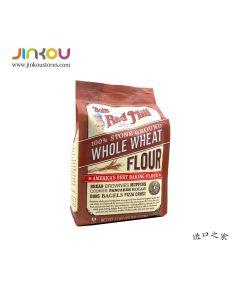 Bob's Red Mill 100% Stone Ground Whole Wheat Flour 80 OZ (2.27kg) 鲍勃红磨坊全小麦烘培面粉