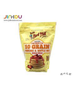Bob's Red Mill 10 Grain Pancake & Waffle Mix 24 OZ (680g) 鲍勃红磨坊松饼和华夫饼烘培用粉