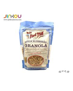 Bob's Red Mill Apple Blueberry Granola Naturally Flavored Cereal 12 OZ (340g) 鲍勃红磨坊苹果蓝莓味麦片