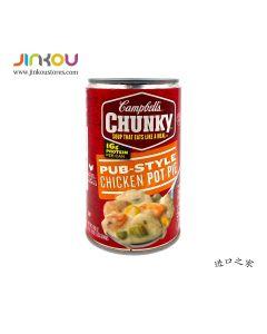 Campbell's Chunky PUB_STYLE Chicken Pot Pie 18.8 OZ (533g) 金宝快状鸡肉菜肉馅饼罐头汤