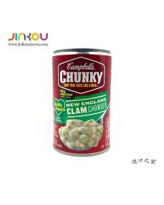 Campbell's New England Clam Chowder Chunky 18.8 OZ (533g) 金宝牌块状英格兰海鲜杂烩罐头汤