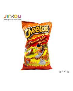 Cheetos Flamin' Hot Crunchy 8  OZ (226.8g) 奇多牌火辣味松脆玉米泡芙条(膨化食品)