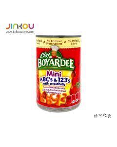 Chef Boyardee Mini ABC's & 123's with meatballs 15 OZ ( 425g) 厨师牌迷你ABC和123型肉丸
