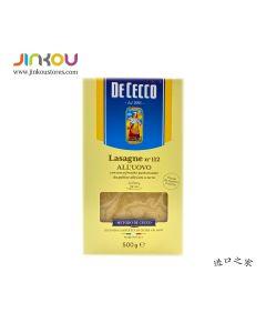 De Cecco Lasagne (Lasagna) all'uovo N°112 (500g) 得科意式千层面