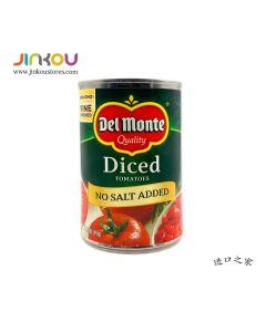 Del Monte Diced Tomatoes No Salt Added 14,5 OZ (411g) 第门碎番茄(末添加食用盐)