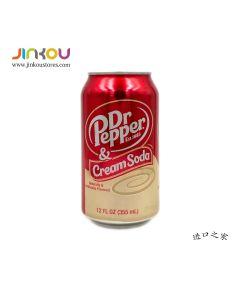 Dr Pepper Cream Soda 12 OZ (355mL) 胡椒博士奶油味碳酸饮料