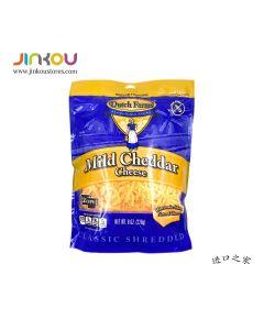Dutch Farms Shredded Mild Cheddar Cheese 8 OZ (226g) 荷氏农场淡味车打干酪碎