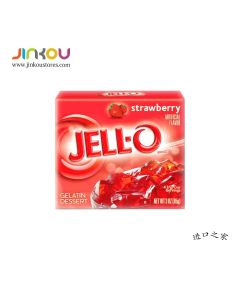 Jell-O Gelatin Dessert Strawberry 3 OZ (85g) 杰乐草莓味果冻粉