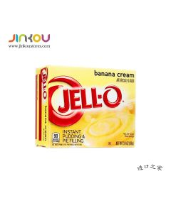 Jell-O Instant Pudding & Pie Filling Banana Cream 3.4 OZ (96g) 杰乐奶油香蕉味布丁粉