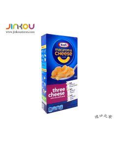 Kraft Macaroni & Cheese Dinner Three Cheese With Mini-Shell Pasta 7.25 OZ (206g卡夫牌三种奶酪味贝壳粉