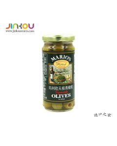 Mario's Spanish Pitted Green Olives in Brine (230g) 玛利欧无核青橄榄