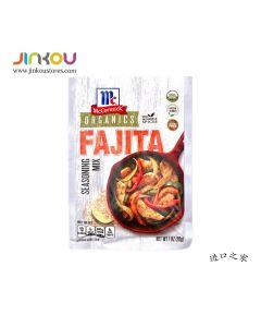 McCormick Organics Fajita Seasoning Mix 1 OZ (28g) 味好美Organic发达调味粉