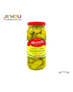 Mezzetta Deli-Sliced Golden Greek Peperoncini 16 FL OZ (473ml) 美瑞嗒金黃整辣椒