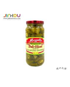 Mezzetta Deli-Sliced Tamed Jalapeno Peppers 16 FL. OZ (473ml) 美瑞嗒墨西哥辣椒圈