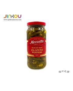 Mezzetta Sliced Hot Jalapeno Peppers 16 OZ (473ml) 美瑞搭特辣味墨西哥辣椒圈