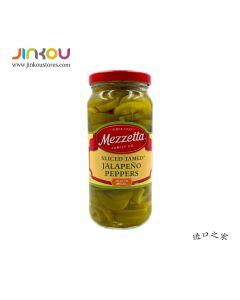 Mezzetta Sliced Tamed Jalapeno Peppers 16 OZ (473mL) 美瑞塔墨西哥辣椒卷