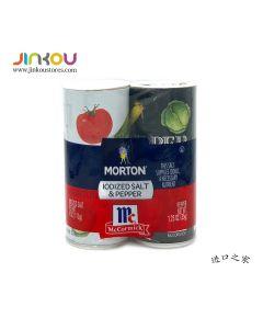 Morton Iodized Salt 4 OZ (113g) & McCormick Pepper 1.25 OZ (35g) Shakers 摩登盐&味好美胡椒盐