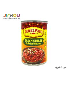 Old El Paso Refried Beans with Green Chiles 16 OZ (453g)欧帕绿辣椒豆酱