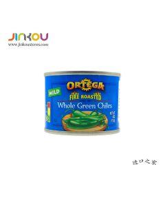 Ortega Mild Fire Roasted Diced Green Chiles 4 OZ (113g) 欧特佳牌整个绿辣椒