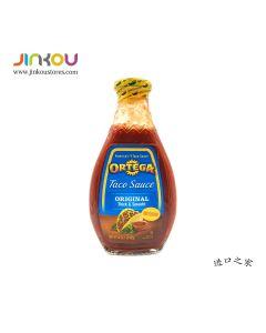 Ortega Taco Sauce Original Thick & Smooth Medium 16 OZ (453g) 欧特佳博饼中辣调味酱