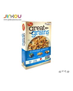 Post Great Grains Blueberry Morning Cereal 13.5 OZ (382g) 宝氏蓝莓早餐麦片