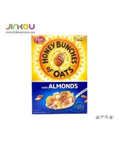 Post Honey Bunches of Oats with Almonds Cereal 14.5 OZ (411g) 宝氏蜜蜂扁桃仁麦片