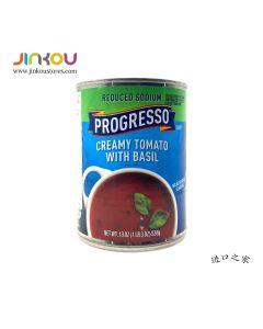 Progresso Reduced Sodium Creamy Tomato With Basil 19 OZ (538g) 蒲氏少纳奶油番茄罗勒罐头汤