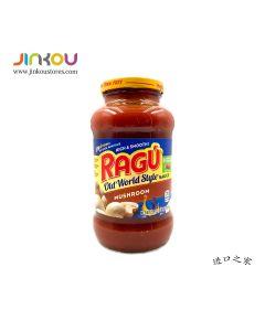 Ragu Pasta Sauce Old World Style Mushroom 23.9 OZ (677g) 乐鲜双重蘑菇风味意粉调味酱