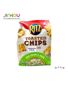 Ritz Toasted Chips Sour Cream and Onion 8.1 OZ (229g) RITZ 酸奶油洋葱味脆饼干