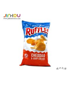 Ruffles Cheddar & Sour Cream Potato Chips (Crisps) 8.5 OZ (184.2g) 如福司土豆片(奶油车打)
