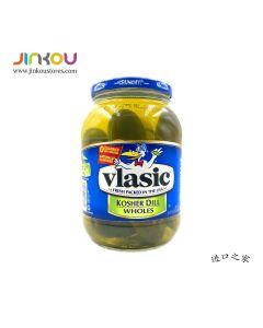 Vlasic Kosher Dill Pickles Whole 46 FL OZ (1.36L) 维纳斯原味整黄瓜