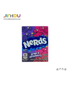Wonka Nerds Grape and Stawberry Candy 1.65 OZ (46.7g) 维卡乐的滋葡萄草莓果味糖